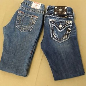"""Cute Lot of two Miss me & True Religión Jeans 26"""""""